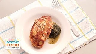 Almond-apricot Chicken Recipe With Mint Pesto - Everyday Food With Sarah Carey
