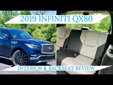 2019 Infiniti QX80 Interior & Backseat Review