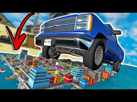 The Most MIND BLOWING Map Ever Made In BeamNG Drive! - BeamNG MP