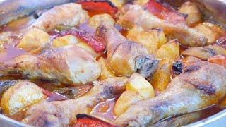 Fırında Sebzeli Tavuk Kebap Tarifi / Sebzeli Tavuk Kebap