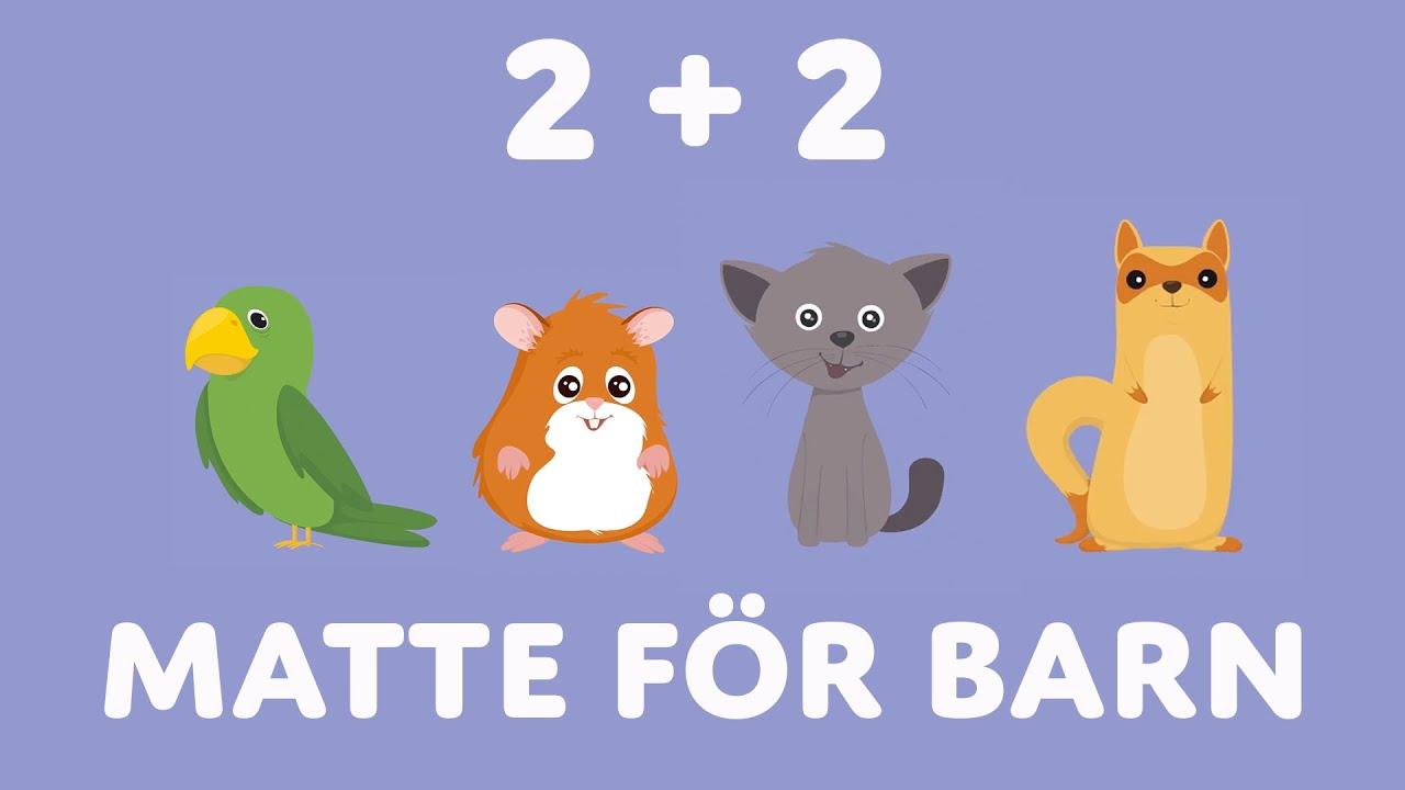 Matte för barn | Siffror för barn  | Räkna Med Djur | Räkna På Svenska | Barnens ABC