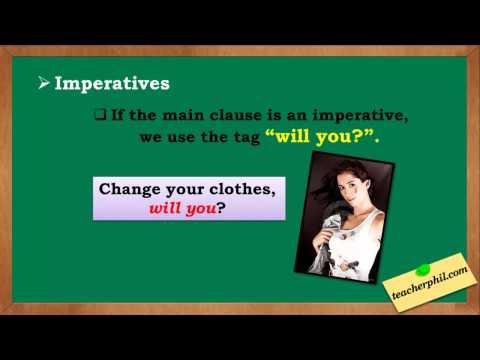 Tag Question (special cases) English grammar