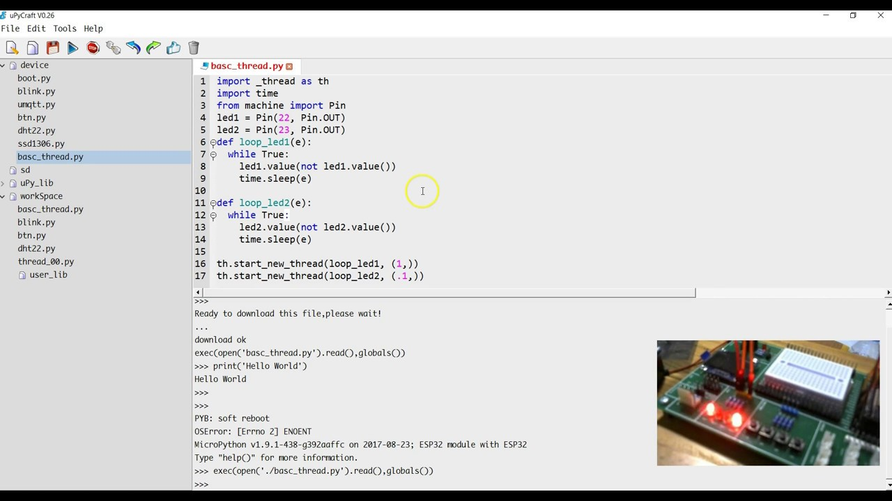 ESP32 MicroPython Basic Multi-Tasking - YouTube