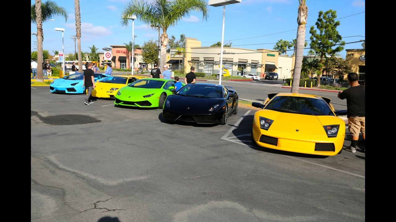 Super Car Show Lamborghini Newport Beach October 3 2015 Youtube