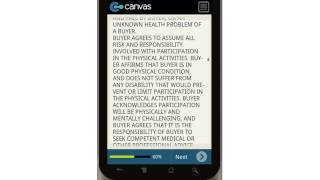Canvas Personal Training Agreement Mobile App