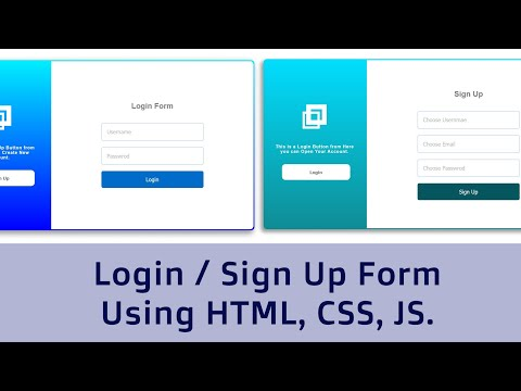 Hide Show Login/ Signup Form Using HTML, CSS, JS