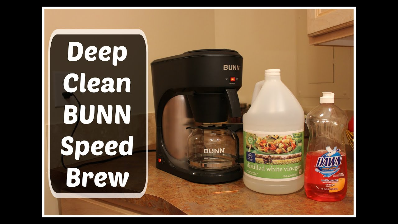 cleaning coffee maker with vinegar how to clean bunn speed brew coffee maker using 31151