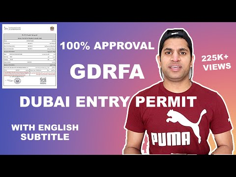 Apply GDRFA Entry Permit To Return To Dubai With English Subtitle, GDRFAA Approval with New Updates