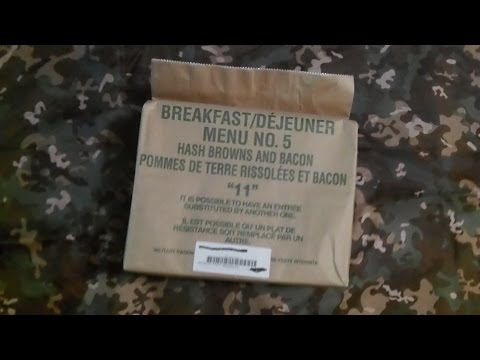 Canadian MRE / IMP Hashbrowns and bacon 2011