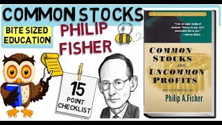 COMMON STOCKS AND UNCOMMON PROFITS by Phillip Fisher (Growth Investing)