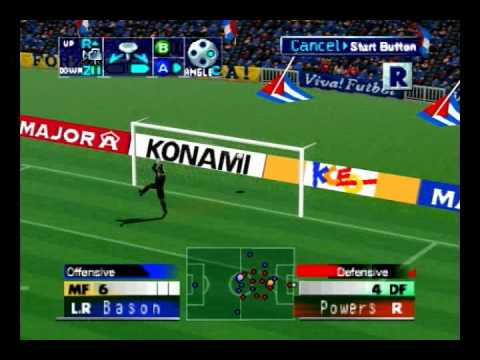 iss  2000 pro evo goal half way line