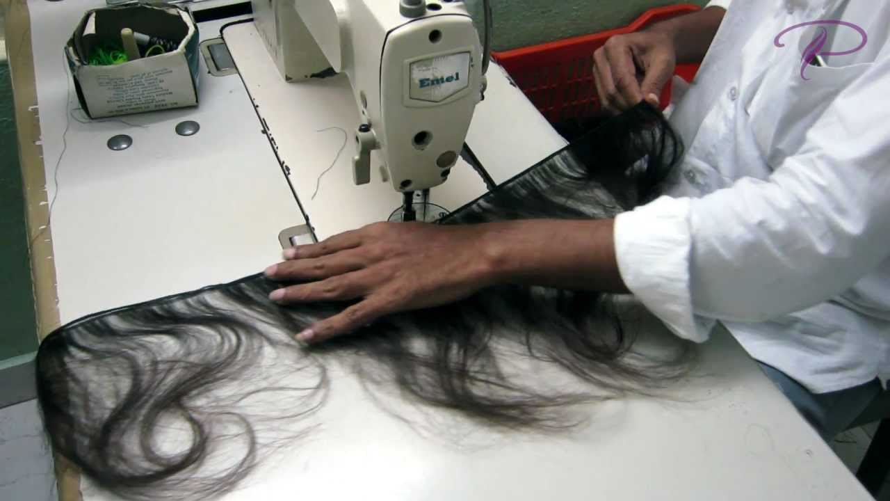 How Machine Weft Indian Hair Weaves Are Made Youtube