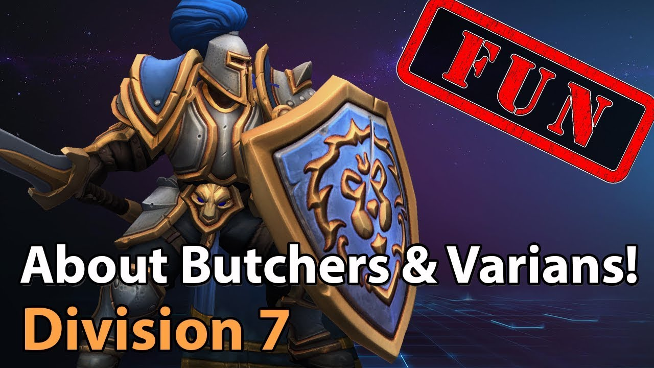 ► Butcher vs. Varian! - Division 7 - Heroes of the Storm Amateur Play