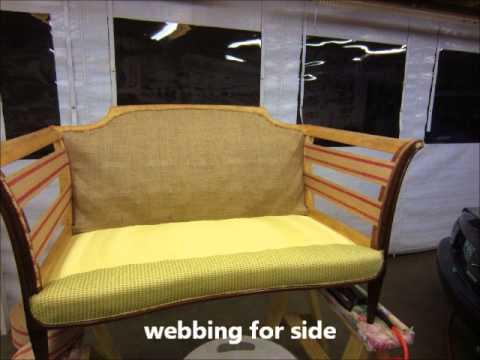 Antique Love Seat by Joe's Upholstery Virginia Beach, Va
