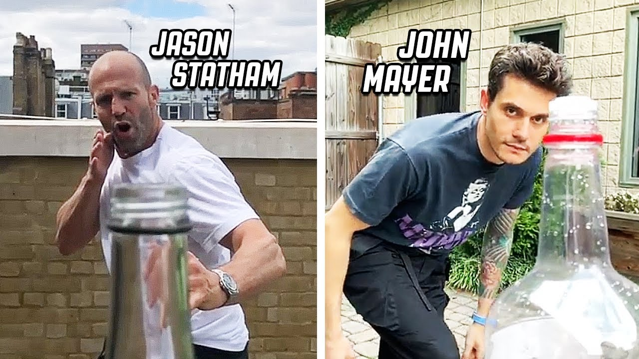 BEST BOTTLE CAP CHALLENGE COMPILATION! | feat. Jason Statham, John Mayer, Max Holloway