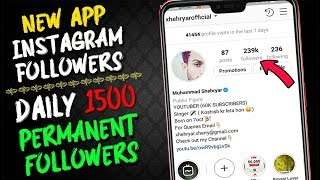 Best App For INSTGARAM FOLLOWERS -  How to Increase INSTAGRAM Followers 2019 - Sunday Special