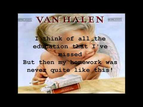 Hot for Teacher - Van Halen - Lyric Video