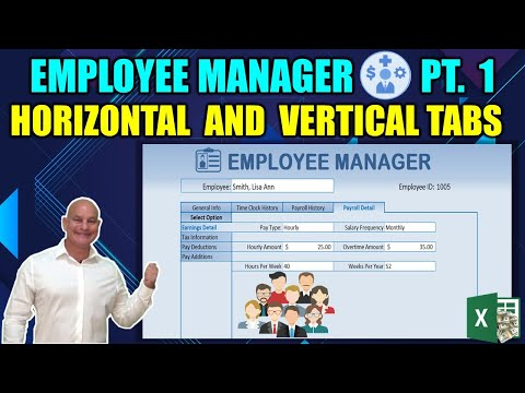 Create Horizontal AND Vertical Tabs in this Excel Employee Manager [Part 1]