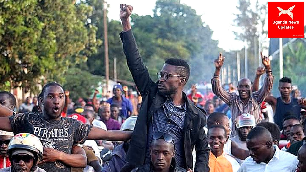 2021 ELECTIONS: Police escorts Bobi Wine amidst chants back to Kampala from Jinja