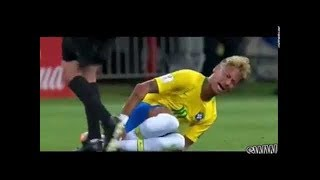 NEYMAR FAKE INJURY. Neymar baby cry troll 😂😂😂😂😂😂😂