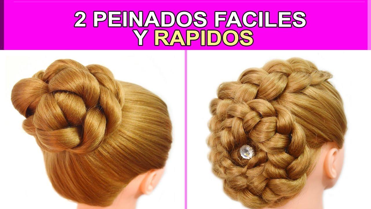 2 Peinados Faciles Y Rapidos Con Recogidos Con Trenzas Para Cabello