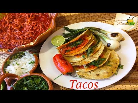 Tacos De Carne Deshebrada