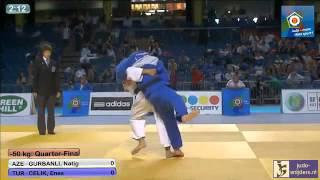 Judo 2013 European Championships Cadets Tallinn: Gurbanli (AZE) - Celik (TUR) [-50kg]