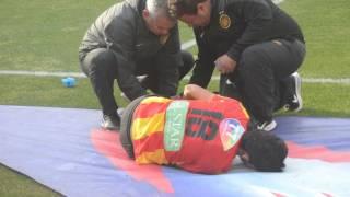 عدسة رياضة العرب تلتقط صورة حصرية الاعب الترجي التونسي  سعد بقير بعد الإصابة في دقائق الاخيرة