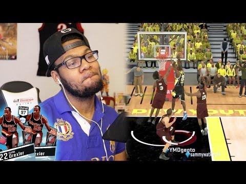 NBA 2k17 MyTeam - Diamond 97 OVR Clyde The Glide Drexler! HOF Posterizer Dunking on Everybody!