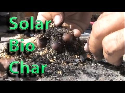 Biomass Char Solar Fresnel Lens PYROLYSIS GREEN GARBAGE DISPOSAL Bio Char