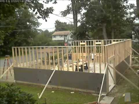 Timelapse Of A Garage Build Framing Walls Youtube