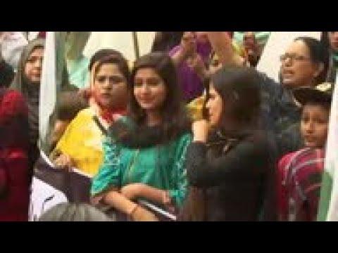 Pakistanis protest over Kashmir unrest in Karachi