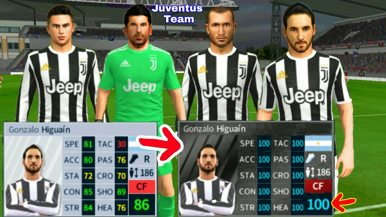 How To Hack JUVENTUS Team 2018 ● All Players 100 & Kits Logo ● Dream League  Soccer 2018