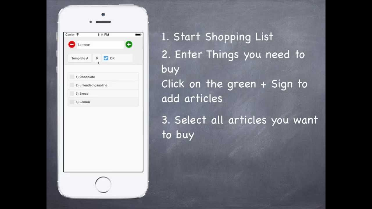 1A Shopping List - Shopping made easy - YouTube