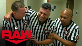 Referee Eddie Orengo gets assistance following attack by Charlotte Flair: Exclusive, April 19, 2021