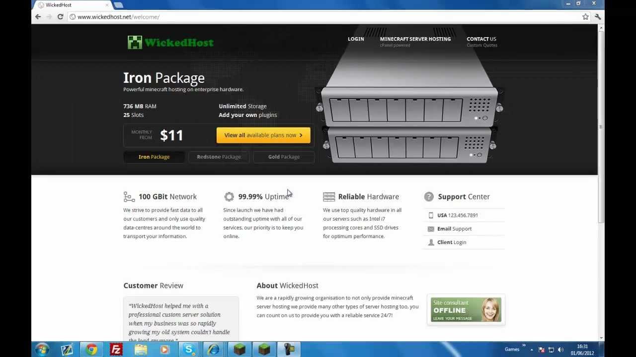 Free minecraft server hosting! - YouTube