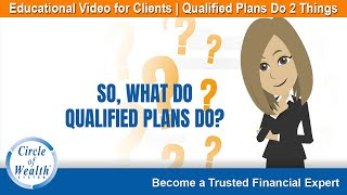 Circle of Wealth Qualified Plans Do 2 Things  - Educational Video for Clients