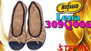 Женские текстильные балетки Befado Lena 309Q006. Видео обзор от WWW.STEPIKO.COM