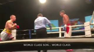 Kyron Dryden knockout with audio from corner team