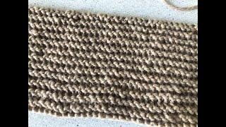 Урок 4. Платочная вязка. Уроки вязания спицами для начинающих с нуля от Счастливой Улитки