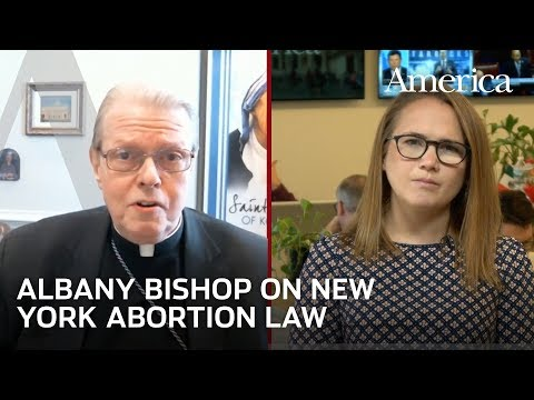 """Bishop Scharfenberger on Catholics and New York's """"extreme"""" abortion law   Developing Story"""
