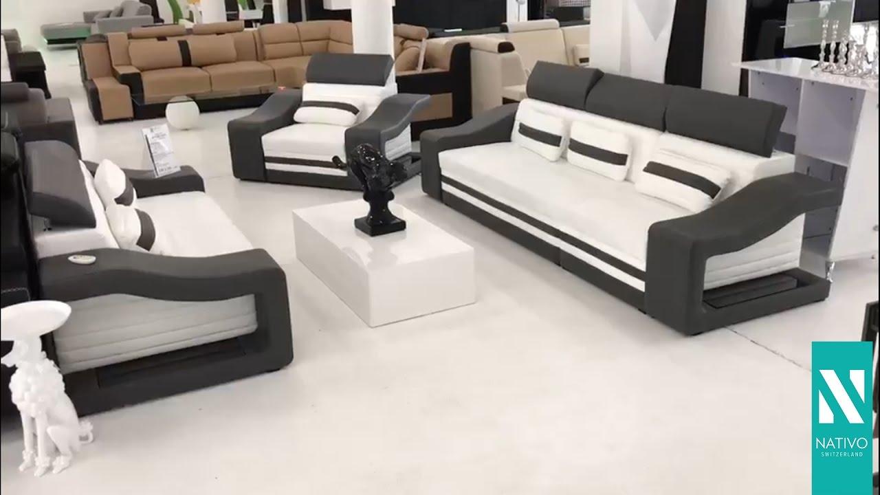 Nativo Möbel Schweiz Designer Sofa Mirage 321 Mit Led