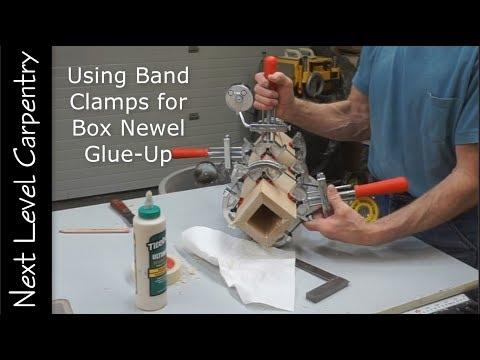 Make Box Newels using Band Clamps