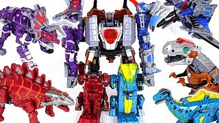 Dinosaurs 5 combine transformers! Defeat the giant insect and dinosaurs! - DuDuPopTOY