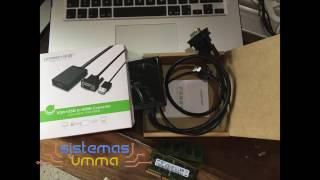 Conectar computadora con VGA a pantalla con HDMI