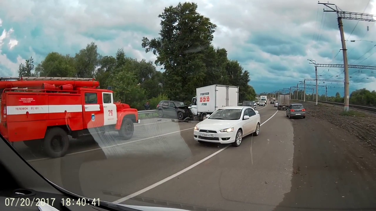 ДТП. Барнаул - Новоалтайск старый мост. 20.07.2017