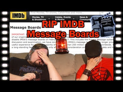 The End of the IMDB Message Boards