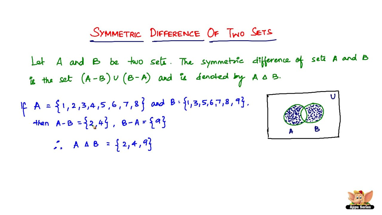 what is symmetric difference of two sets