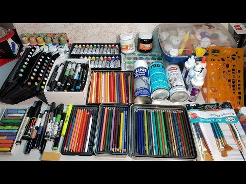 Mis materiales de dibujo - Arte Orta