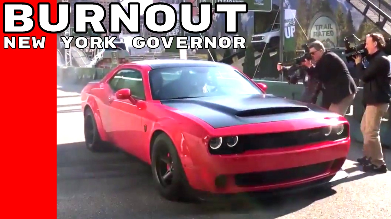 New York Governor Andrew Cuomo Dodge Demon Burnout Youtube